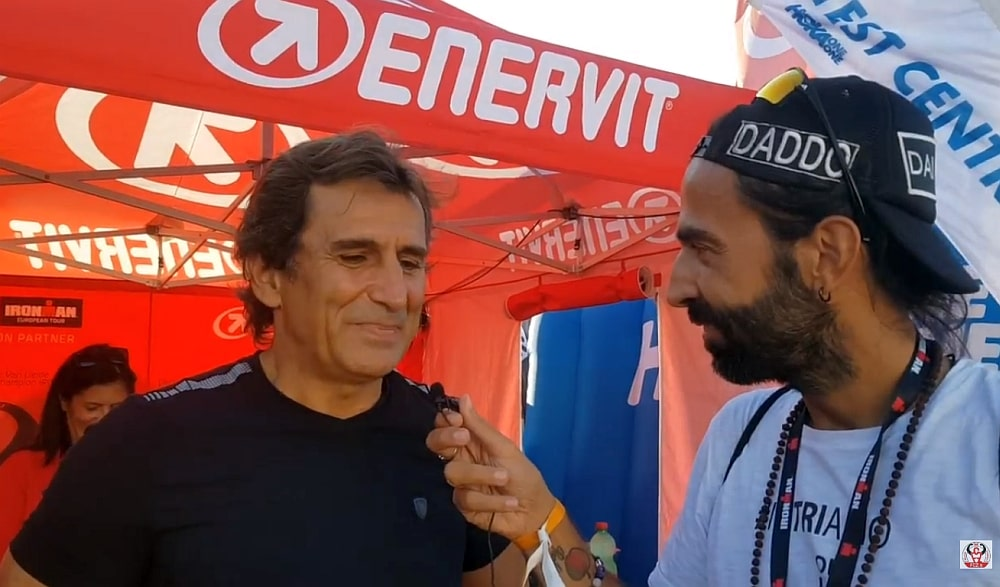 Dario Daddo Nardone intervista Alex Zanardi, tra i partecipanti di Ironman Italy Emilia Romagna 2018 a Cervia