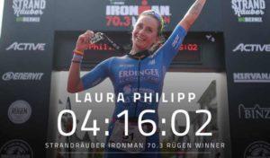 E' la tedesca Laura Philipp la migliore all'Ironman 70.3 Ruegen 2018