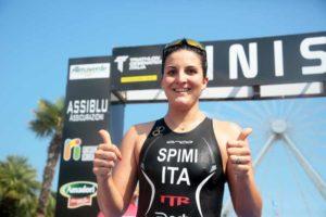 Sharon Spimi (Triathlon Team Riccione TTR) è la più veloce al Triathlon di Cesenatico 2018 su distanza sprint corso sabato 8 settembre (Foto ©Marco Bardella)