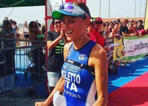 Chiara Ingletto (Firenze Triathlon) centra la doppietta: vince l'ETT Viareggio 2018 sia su distanza olimpica sia su quella sprint