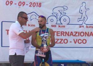 Il paratleta Francesco Demaio (Oasi Laura Vicuna) ha ricevuto il trofeo intitolato a Massimo Canali
