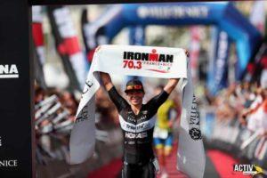 La francese Manon Genet si aggiudica il 1° Ironman 70.3 Nice corso il 16 settembre 2018 (Foto ©Activ'images)