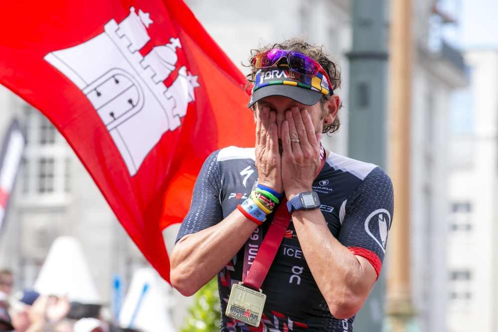 L'inglese Tim Don torna al via dell'Ironman Hawaii World Championship dopo un anno fatto di riabilitazione e... grinta ricominciato, nel triathlon, all'Ironman Hamburg a fine luglio (Foto ©Getty Images for Ironman)