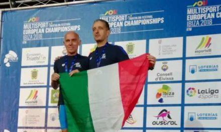 """Alberto Ceriani torna dagli Europei di Ibiza con un oro (aquathlon) e un argento (triathlon medio): """"Grazie Claudio"""""""