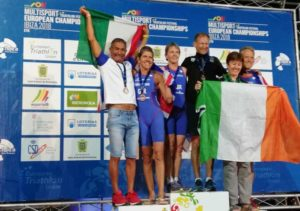Gianfranco Coppa è argento all'ETU Aquathlon European Championship 2018, corso a Ibiza.