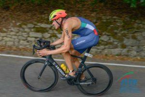 Marcello Ugazio (Azzurra Triathlon Team) ha fatto registrare il miglior split nella frazione ciclistica dei Campionati Italiani di triathlon olimpico 2018 (Foto ©FiTri / Tiziano Ballabio)