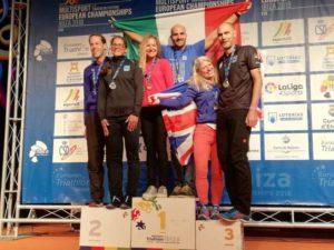 Bruno Pasqualini è medaglia d'oro all'ETU Middle Distance Triathlon European Championship 2018, a Ibiza.