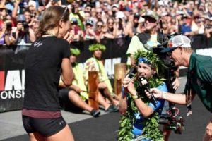 Patrick Lange ha chiesto alla fidanzata Julia di sposarlo subito dopo aver tagliato il traguardo dell'Ironman Hawaii World Championship