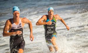 Il neozelandese Sam Osborne, il più veloce nella frazione natatoria, conquista il bronzo all'XTERRA World Championship 2018 (Foto ©XTERRA)