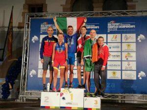 Huber Rossi è ancora oro! Dopo il titolo europeo 2018 di categoria su distanza sprint, si aggiudica anche quello su distanza classica.
