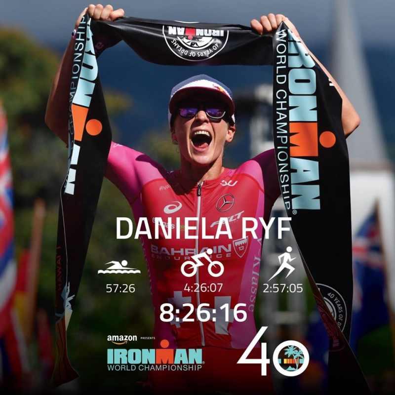 I tempi parziali e finale (da record) di Daniela Ryf all'Ironman Hawaii World Championship 2018, che fa suo per la quarta volta
