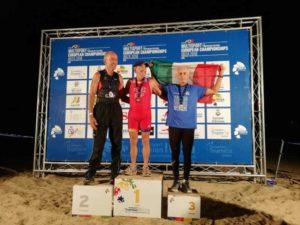 All'ETU Cross Triathlon European Championship 2018 l'azzurro Romano Simi è medaglia di bronzo nella cat. 70-74.