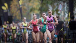Le statunitensi Summer Cook, Kirsten Kasper e Katie Zaferes sono state tra le protagoniste assolute della Super League Triathlon Mlata 2018 (Foto ©Tom Shaw/Superleague Triathlon)