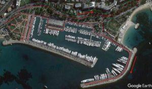 Il tracciato della prova di ciclismo del Cannes International Triathlon 2019.