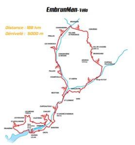 I 188K del percorso ciclistico dell'Embrunman.