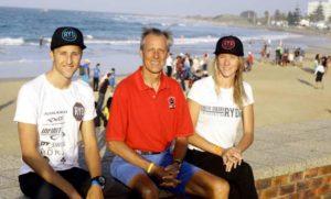 Rodolphe Von Berg Jr con il papà Rodolphe Von Berg Senior e la sorella. Il padre, nel 2018, ha vinto la sua categoria nell'Ironman 70.3 World Championship e nell'ETU Triathlon Middle Distance European Championship. Per il 2019 ha già messo in calendario 6 gare.