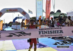 Il 16 settembre 2018 Alberto Casadei vince l'Aquaticrunner 2018, valido come Campionato del Mondo e Campionato Italiano di swimrun individuale (Foto ©Tiziano Faggiani)