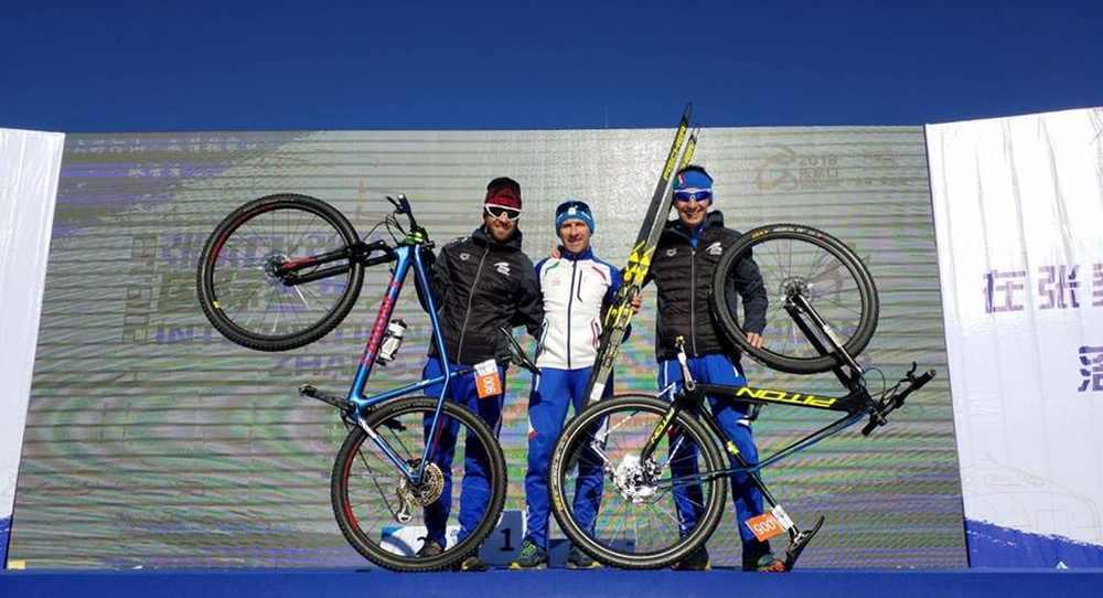"""Winter Triathlon: Daniel Antonioli e Giuseppe Lamastra sono 5° e 6° nella """"preview"""" delle Olimpiadi Invernali di Pechino 2022"""
