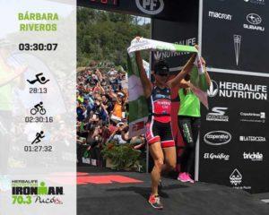 La cilena Barbara Riveros è profeta in patria: vince l'Ironman 70.3 Pucon, corso il 13 gennaio 2019.