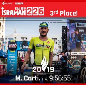All'esordio tra i PRO Marco Corti (Zerotrenta Triathlon Brescia) sale sul terzo gradino del podio dell'Israman Eilat 2019 Full Distance (Foto ©Israman Eilat).