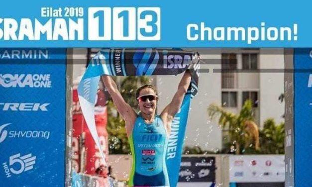 Azzurro Israman: a Eilat Martina Dogana vince il triathlon half distance, Marco Corti è terzo nel full