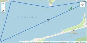Il percorso di nuoto dell'Embrunman 2019 - distanza corta