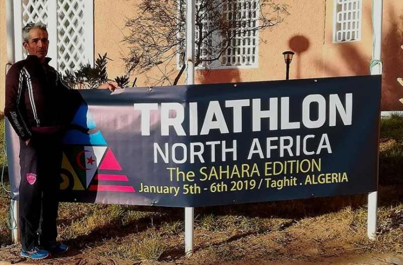 """Valerio Curridori è 4° nel 1° Triathlon del Sahara: """"Mi ero preparato a tutto: caldo, bestie feroci, deserto… ma non a un nuoto così!"""""""