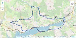 Il percorso della frazione ciclistica dell'Embrunman 2019 distanza corta.