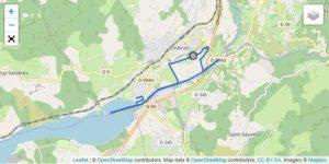 Il tracciato della frazione di corsa dell'Embrunman 2019 distanza corta.