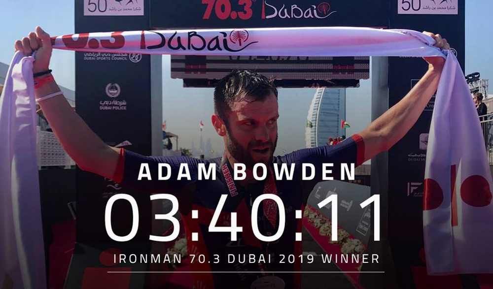 Holly Lawrence e Adam Bowden vincono l'Ironman 70.3 Dubai 2019