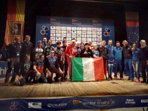 Ai Mondiali di winter triathlon 2019 il Team Italia Age Group conquista 8 ori, 7 argenti e 12 bronzi!