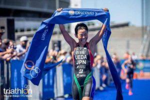 La giapponese Ai Ueda è la più veloce nella 1^ tappa dell'ITU Triathlon World Cup 2019, corsa a Cape Town (RSA) il 10 febbraio (Foto ©ITU Media / Wagner Araujo).