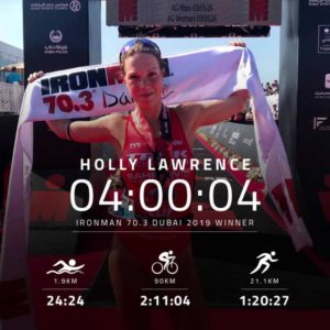 La britannica Holly Lawrence si aggiudica l'Ironman 70.3 Dubai 2019.