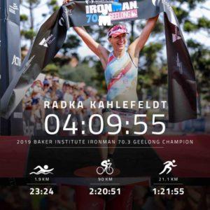 La ceca Radka Kahlefeldt è la regina dell'Ironman 70.3 Geelong 2019.