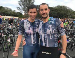 Gli italiani Sara Fusetti e Alessio Trombini al via dell'Ironman 70.3 South Africa 2019. Sara, classificandosi quinta, ha centrato la qualificazione per il Mondiale, in calendario il 7 settembre, a Nizza (Francia).