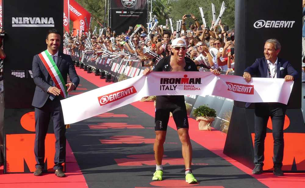 Il vincitore dell'Ironman Italy Emilia-Romagna 2019: il tedesco Andi Boecherer (Foto ©Carlo Morgagni).