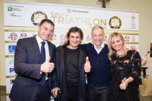 I 4 grandi ospiti del 6° Gala del Triathlon: Antonio Rossi, Alex Zanardi, Linus e Justine Mattera (Foto ©Alice Longoni)