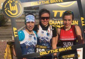 Matilde Bolzan (SAI Frecce Bianche) vince il Duathlon Cross della Brianza 2019, precedendo la compagna di squadra Marta Menditto e Dorotea Viola Gilioli (Velo Sport Carpi).