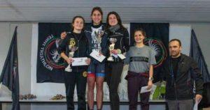 Giulia Renzini (Foligno Triathlon Winner) vince il 4° Duathlon del Drago davanti ad Agnese Celommi (Leone Triathlon) e alla compagna di squadra Cristina Mercuri (Foligno Triathlon Winner).