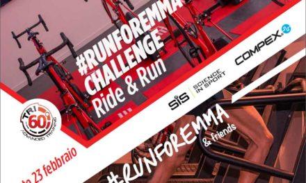 """#RunForEmma & Friend lancia una nuova sfida: una """"Ride&Run"""" per sostenere il progetto #KeepSmiling a favore dei bambini affetti da SMA. L'appuntamento è da Tri60 sabato 23 febbraio 2019"""