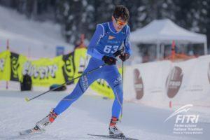 Simone Avondetto si laurea campione del mondo di winter triathlon 2019 (Foto ©FiTri / Tiziano Ballabio).