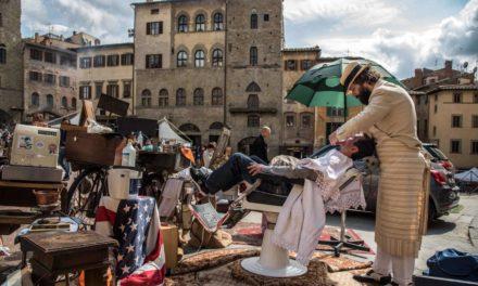 """Barba e capelli? Si fanno in strada con Stefania ed Alessio! Lo """"street barber"""" al 1° Triathlon Show Italy"""