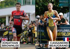 Jonathan Brownlee e Cassandre Beaugrand sono i vincitori della tappa finale della Super League Triathlon Championship 2018-2019, corsa a Singapore.