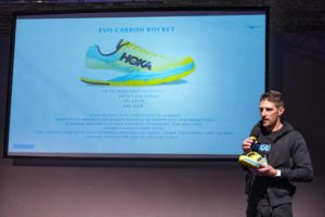 Alessandro Degasperi racconta la Evo Carbon Rocket, la nuova scarpa da running della Hoka One One (Foto ©FCZ.it Mondo Triathlon / Roberto Del Bianco).
