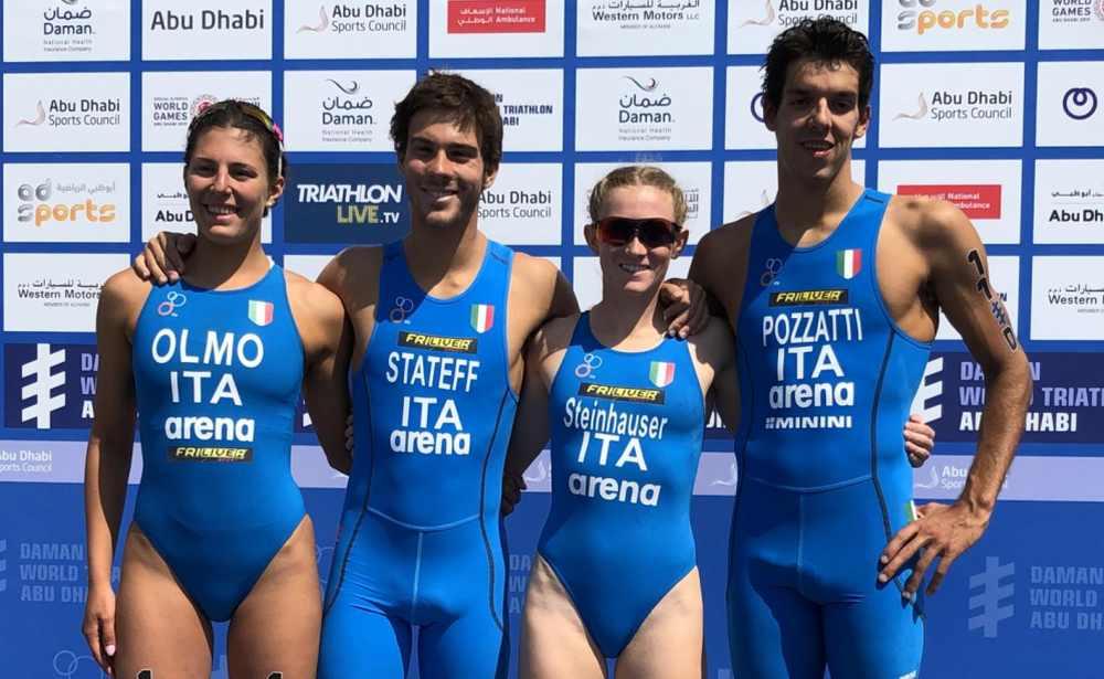 L'Italia è sesta nella Mixed Relay World Series ad Abu Dhabi. Un ottimo risultato per Olmo, Stateff, Steinhauser e Pozzatti