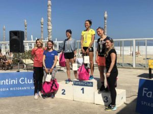 Il podio femminile della 10K Run by followYourPassion (Foto ©FCZ.it Mondo Triathlon).