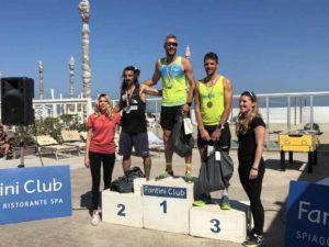 Il podio maschile della 10K Run by FollowYourPassion (Foto ©FCZ.it Mondo Triathlon).