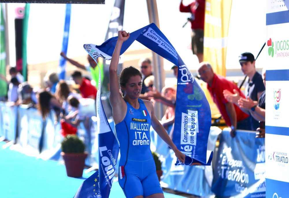 Il 28 aprile 2019 l'azzurra Beatrice Mallozzi vince l'ETU Triathlon Junior European Cup a Quarteira (Portogallo) - Foto ©ETU Triathlon).