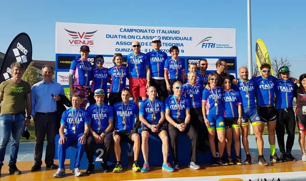 I campioni italiani di duathlon classico 2019 (Foto ©Fitri Media).