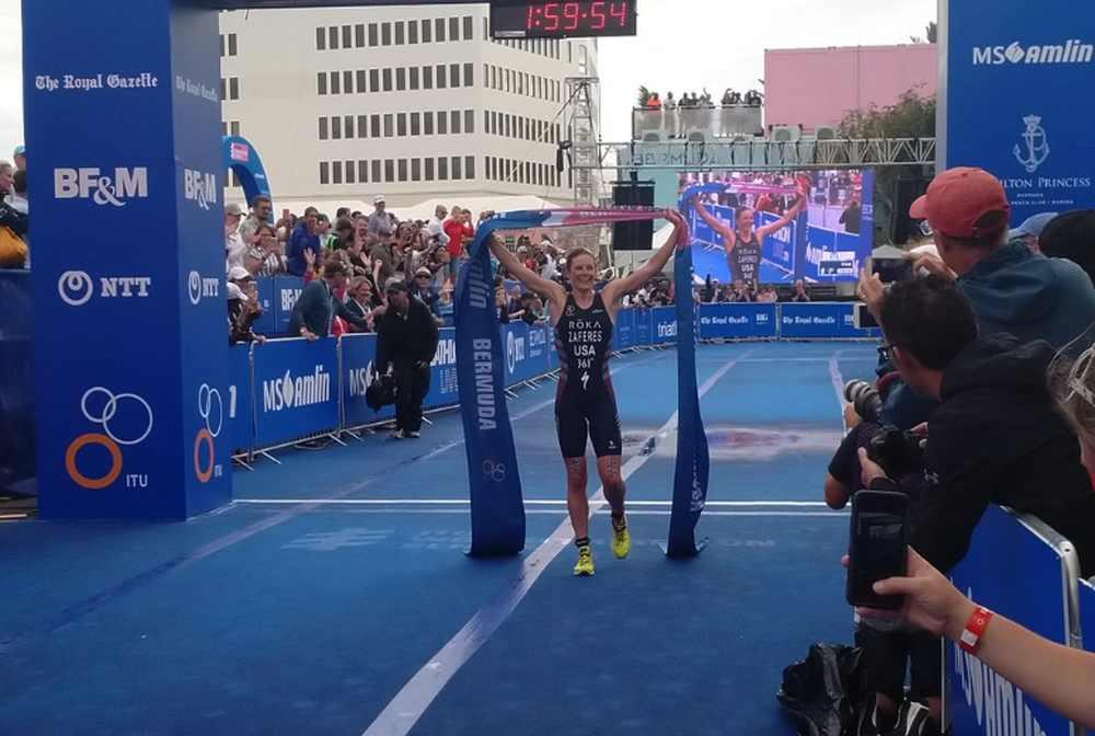 La statunitense Katie Zaferes si aggiudica l'ITU World Triathlon Bermuda 2019.